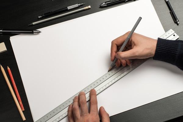 grafmonumenten van glas tekeningen uitwerken