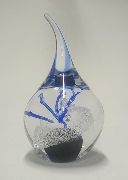 Glazen urn Fenix hart Silent Art