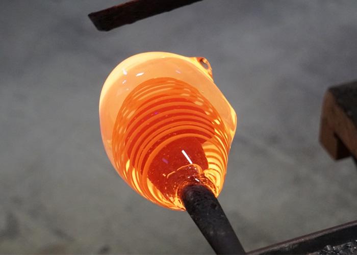 glazen urn productie